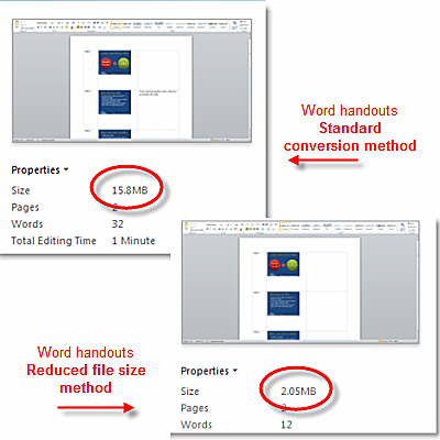 Reduce file size when converting powerpoint to word handouts create handouts in word from new powerpoint slides toneelgroepblik Gallery