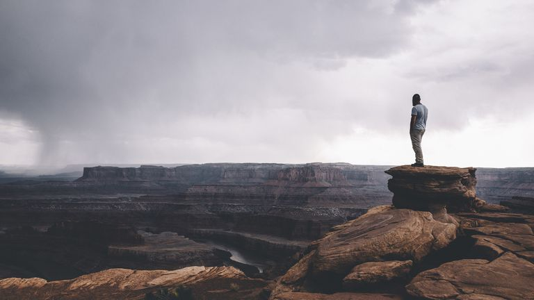 On the edge of Canyonlands