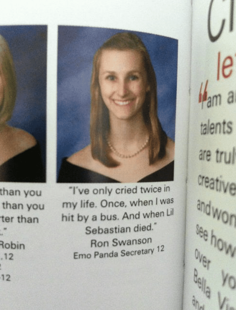 Hilarious yearbook quotes that belong a hall of fame yearbook quotes ron swansong urtaz Choice Image