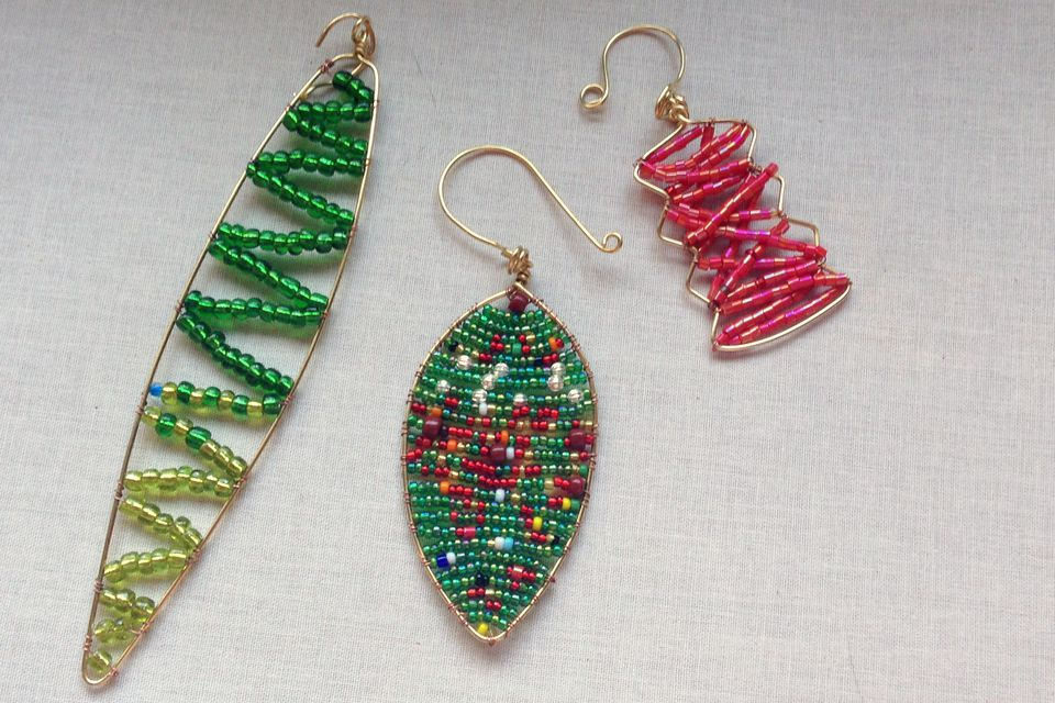 Wire and Bead DIY orngaments