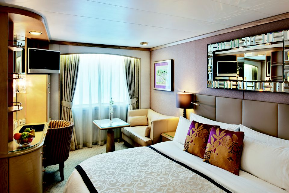 Crystal Symphony cruise ship Deluxe Stateroom