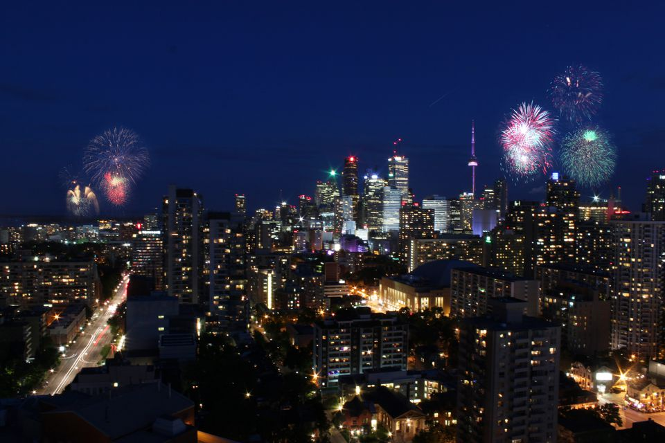Victoria Day fireworks over Toronto