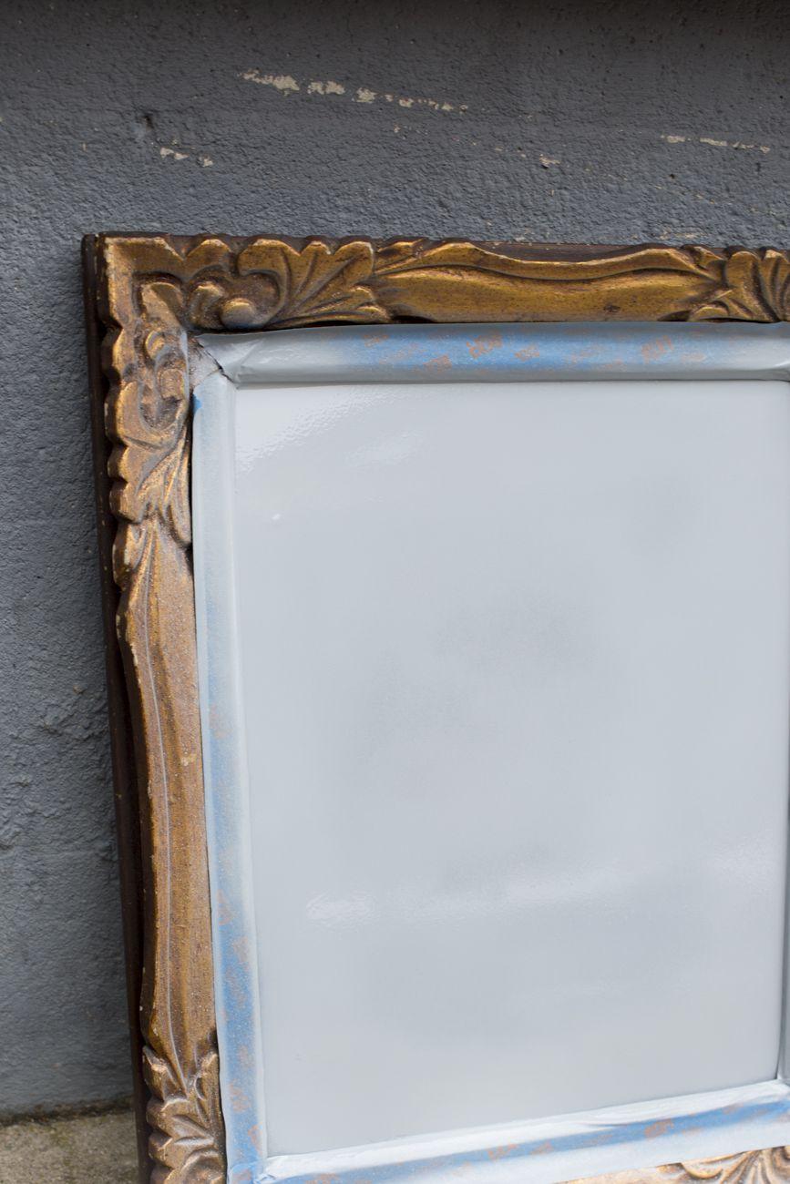 How to turn an old mirror into a chalkboard mirror chalkboard jeuxipadfo Choice Image