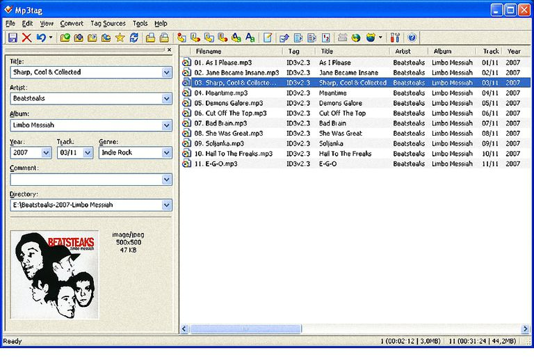 MP3Tag Main Screen