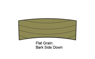 Deck Board Bark Side Down
