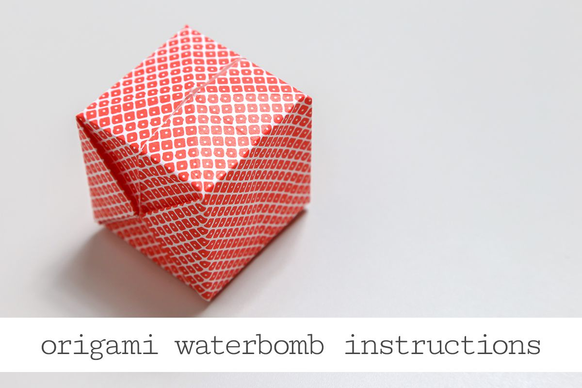 Origami water bomb step by step instructions jeuxipadfo Images