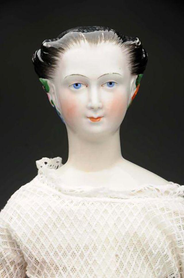 Antique Morning Glory Lady China Head Doll