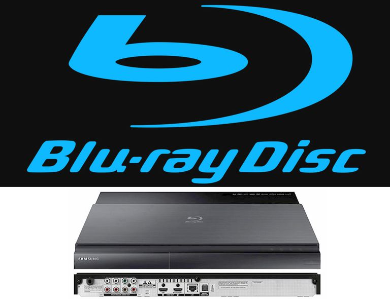 Official Blu-ray Disc Logo with Samsung BD-J7500 Blu-ray Disc Player