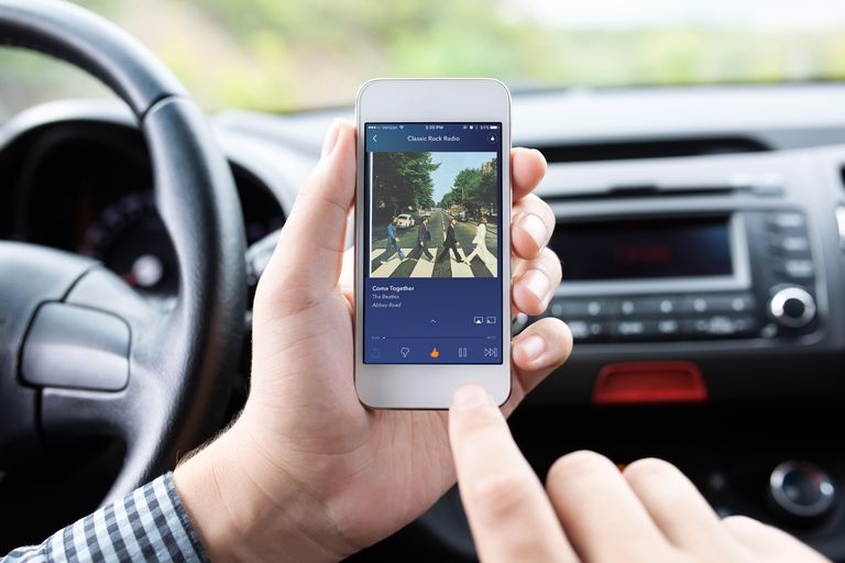 Using Pandora app in car