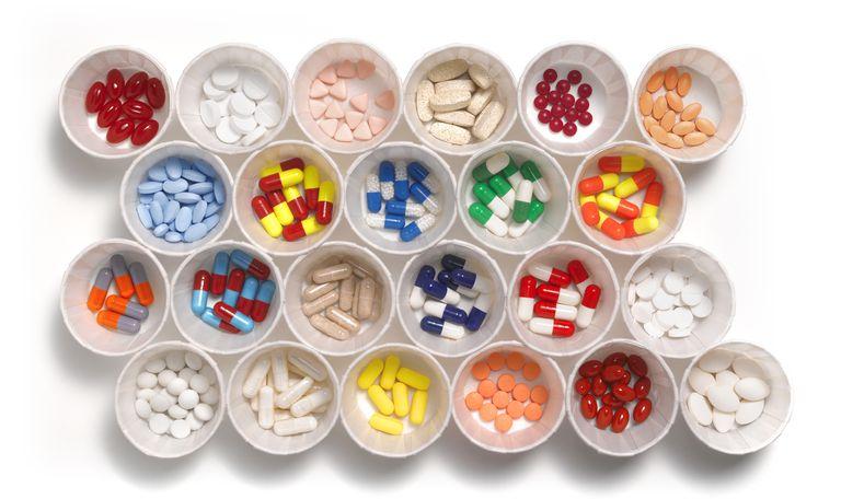 Close-up of prescription drugs