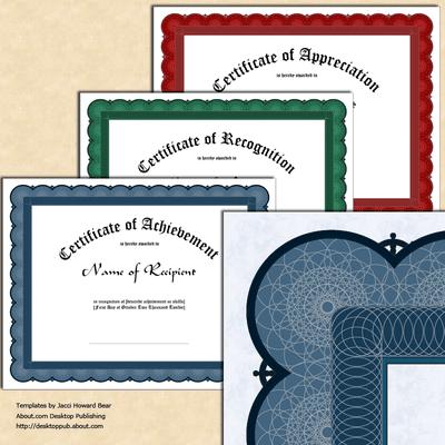 create certificate in word