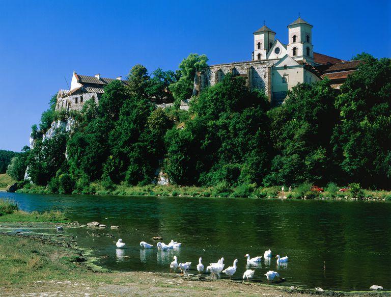 Monastery Building on the Vistula River in Poland