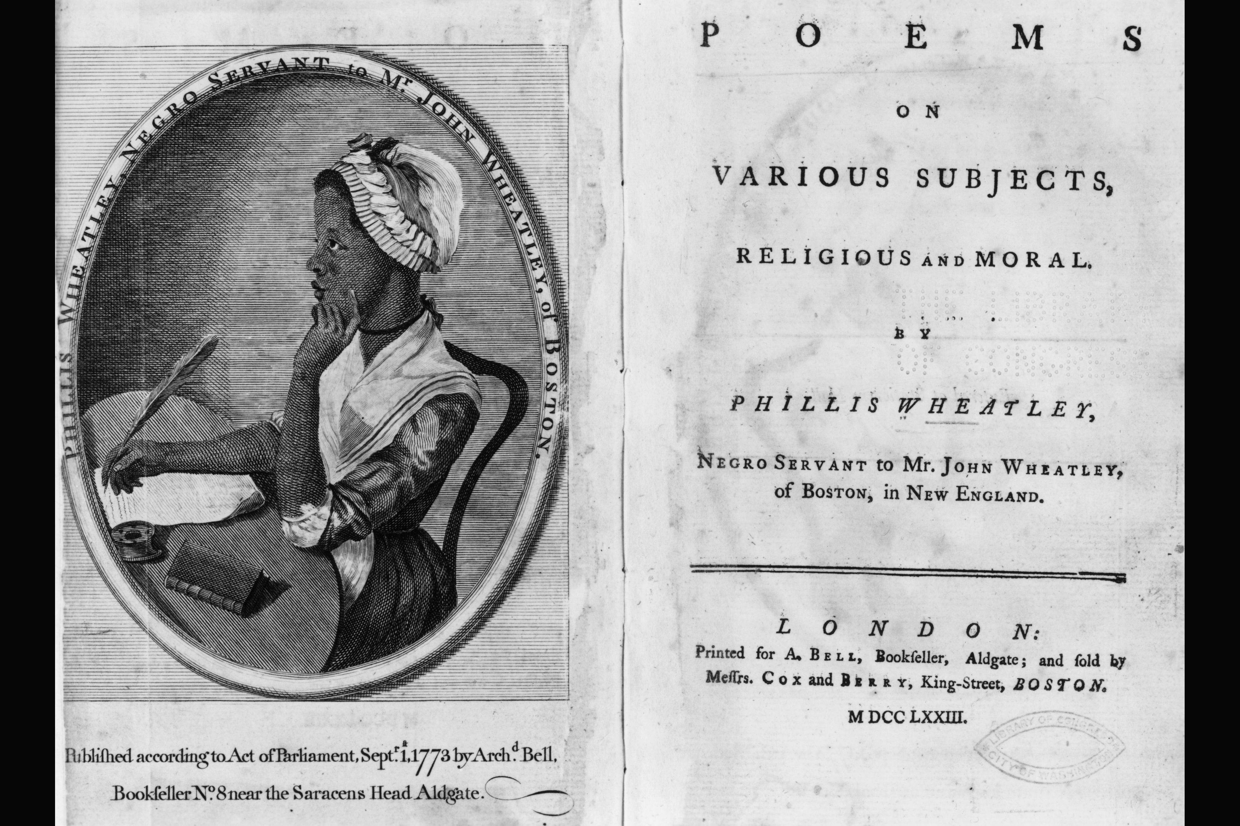 slave poet phillis wheatley an analysis of her poems
