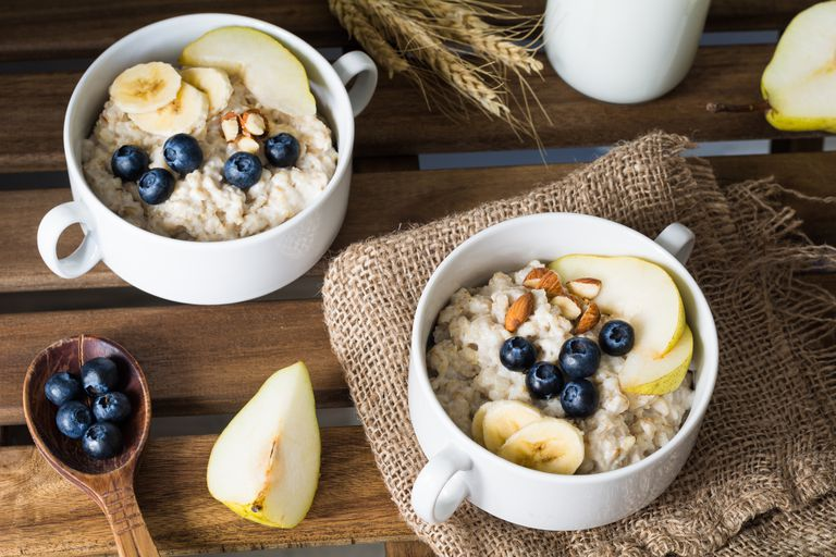 Oatmeal porridge, healthy breakfast food