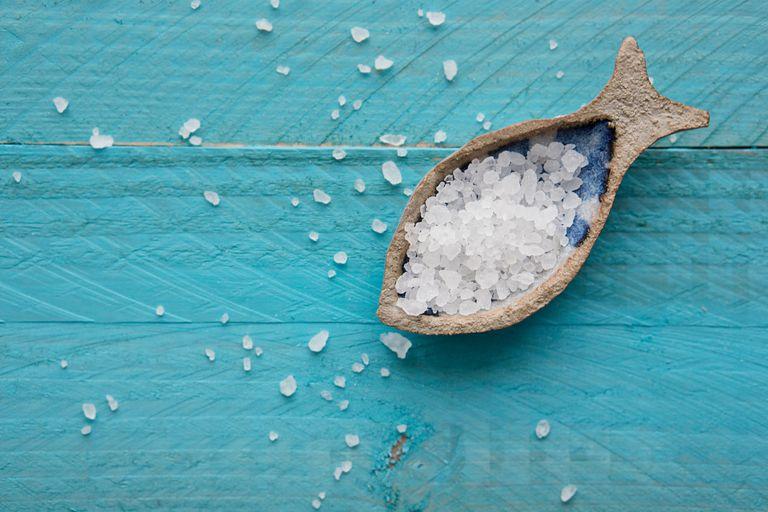 Sea salt in a dish