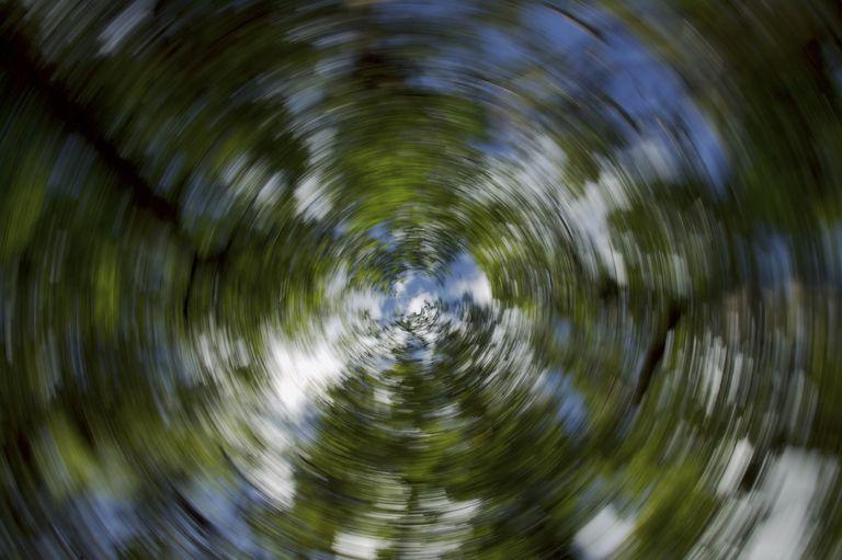 blurry scene as if dizzy