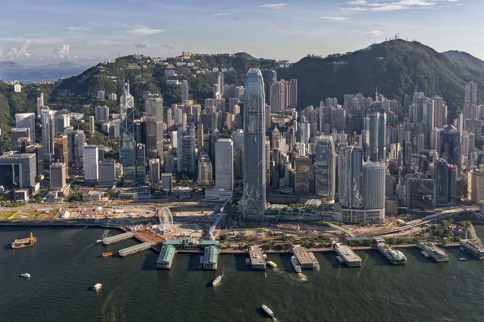 Aerial image of Central financial district