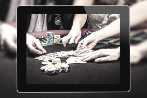 Image of people playing poker in an online casino game