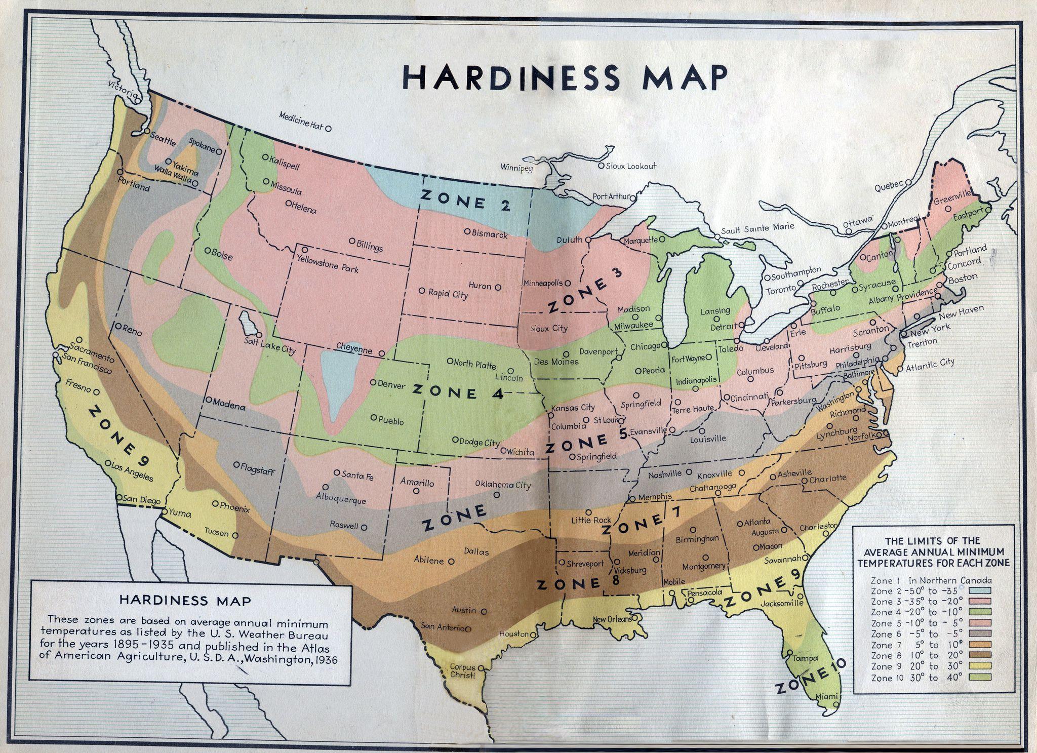 Planting Zones and USDA Plant Hardiness Maps Explained