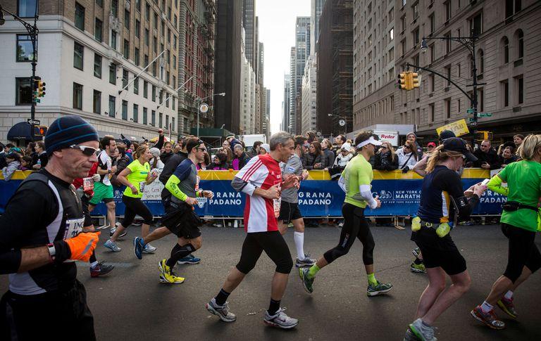 NYC Marathon crowd