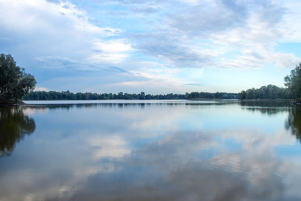 Panoramic view of Chipping Norton lake in Sydney, Australia