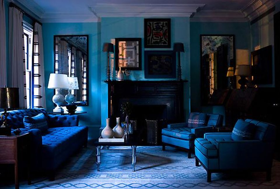 15 beautiful blue rooms for Blue living room decor ideas