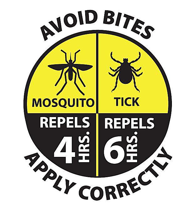 mosquito-repellent, tick-repellent graphic