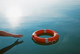 Retiree reaching for a life preserver - wondering if pension benefits are guaranteed.