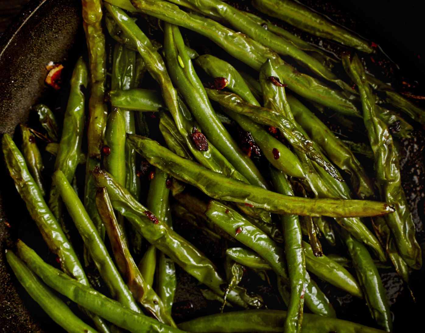 Vegan Vegetarian Asian Green Beans With Soy Sauce Recipe