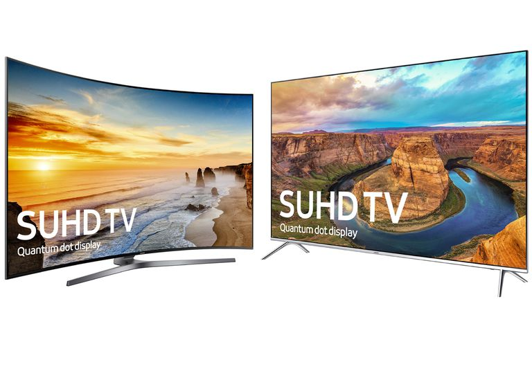 Samsung KS9800 (left) and KS8000 (right) Series SUHD TVs
