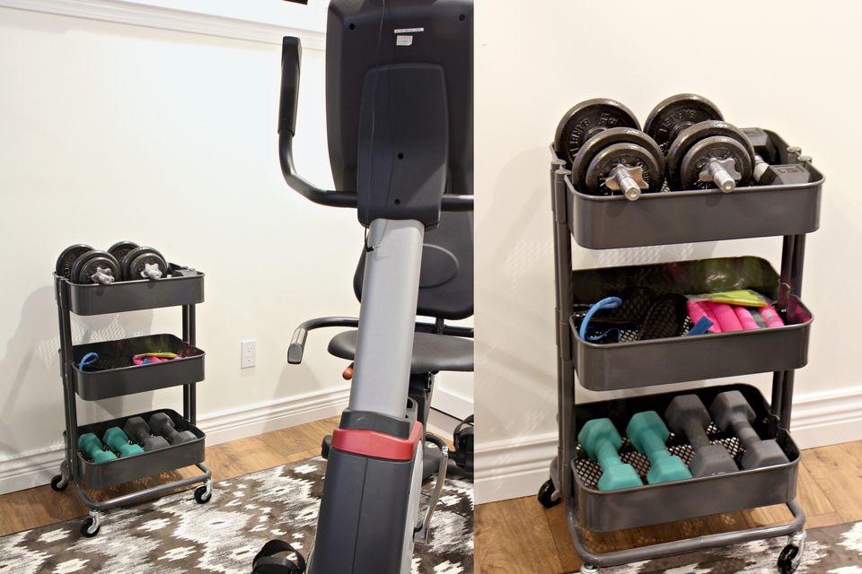 cart workout nook