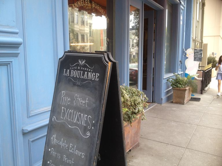 La Boulange original Pine Street San Francisco location chalkboard