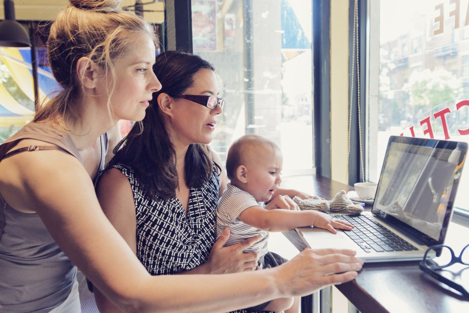 2 Working Moms working together as part of a job share