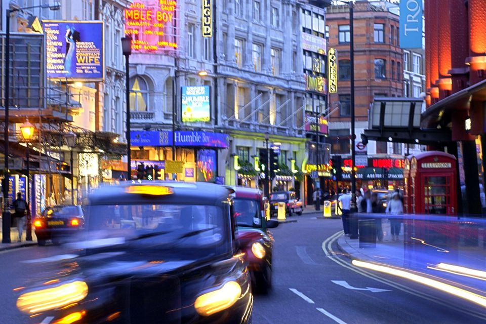cars driving in London