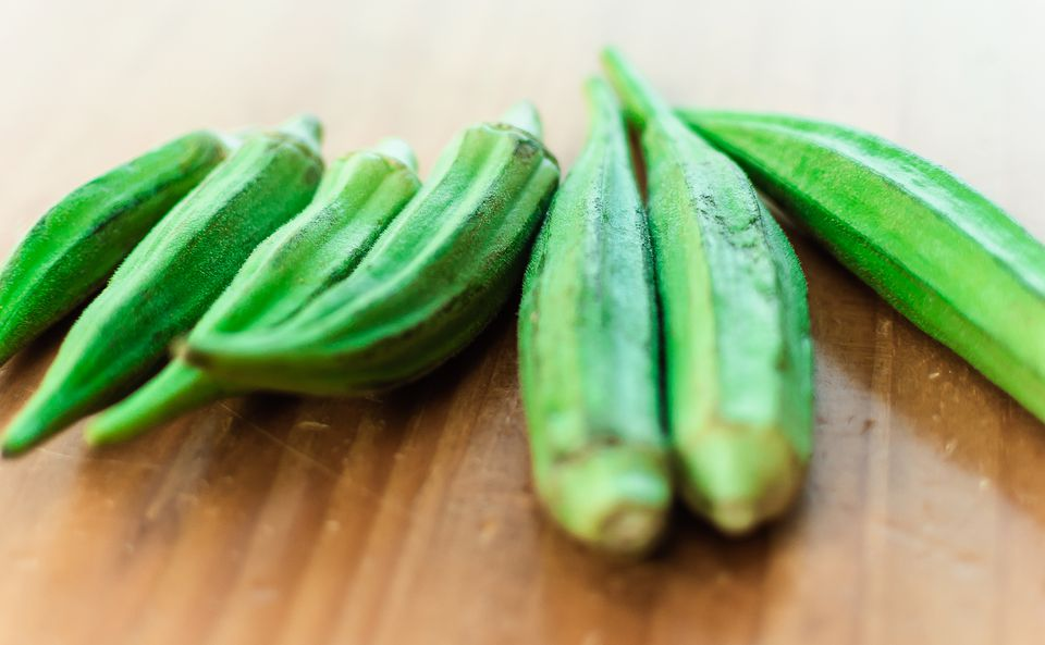 Close-Up Of Okra On Table