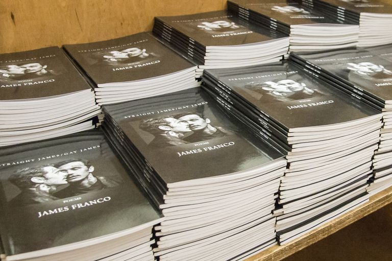 James Franco Promotes His New Chapbook 'Straight James / Gay James'