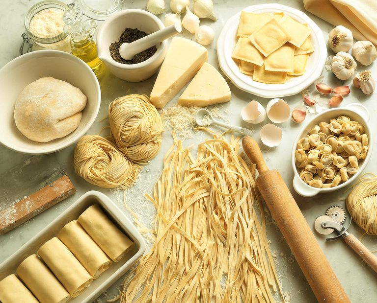 pasta and other gluten-containing foods