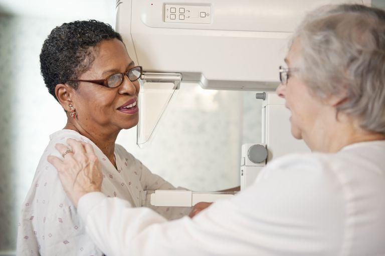 Mature Woman having Mammogram