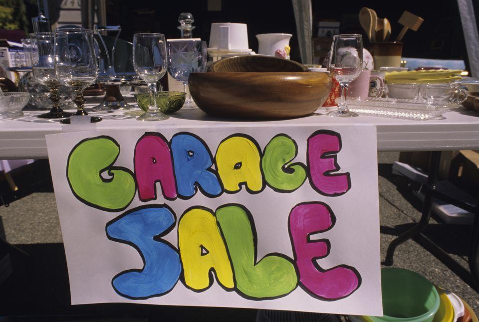 yard sale merchandise