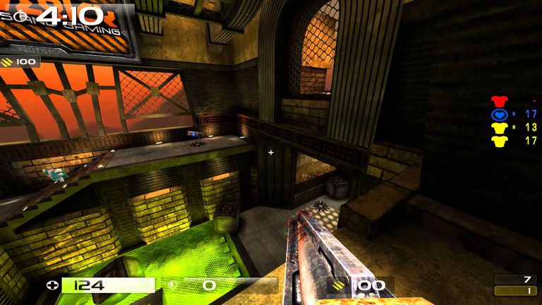 Gameplay footage from Quake Live.
