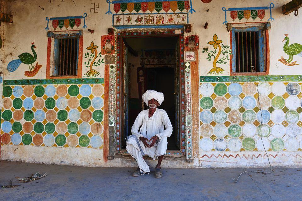 Gujarat, Kutch, village around Bhuj, Rabari ethnic group