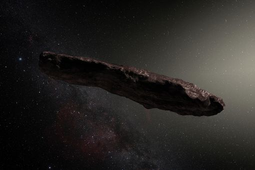Interstellar asteroid 'Oumuamua as imagined by an artist.