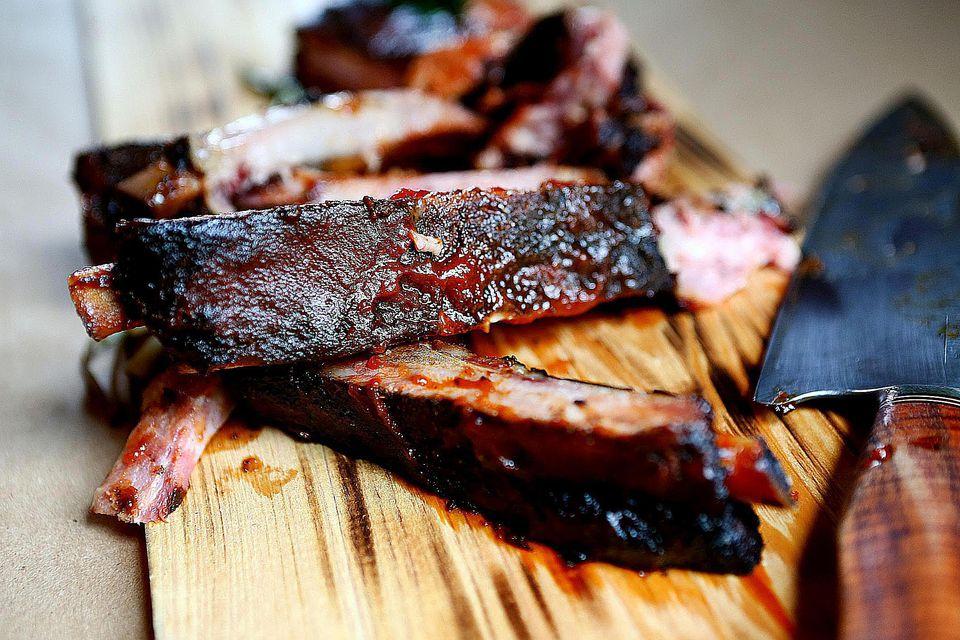 Classic barbecue ribs
