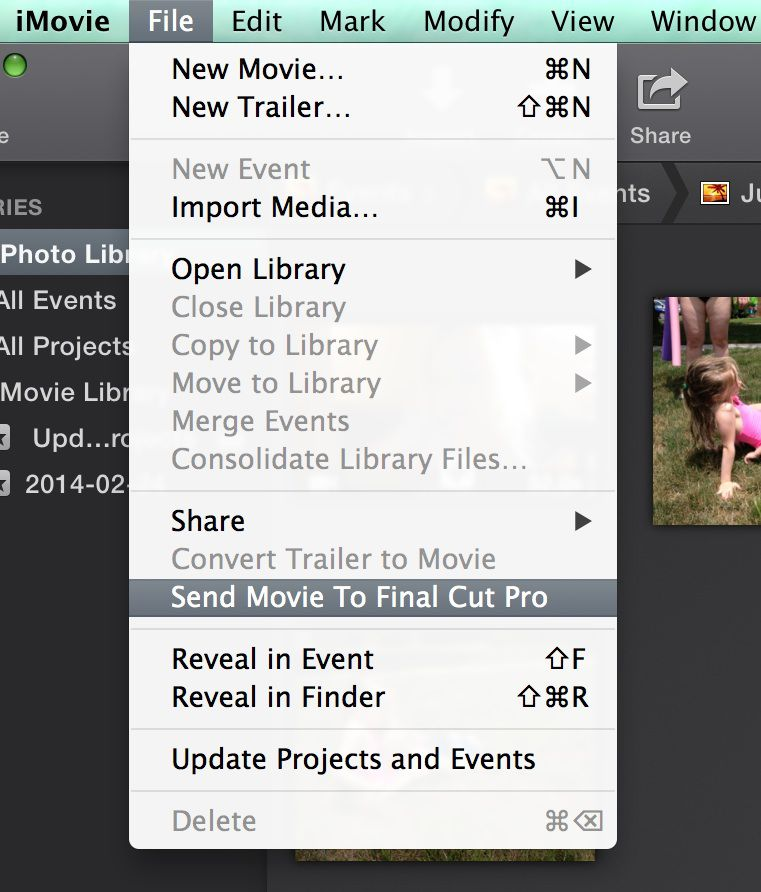how to cut imovie video