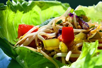 These Vegan Friendly Thai Lettuce Wraps Are Fun To Make And To Eat
