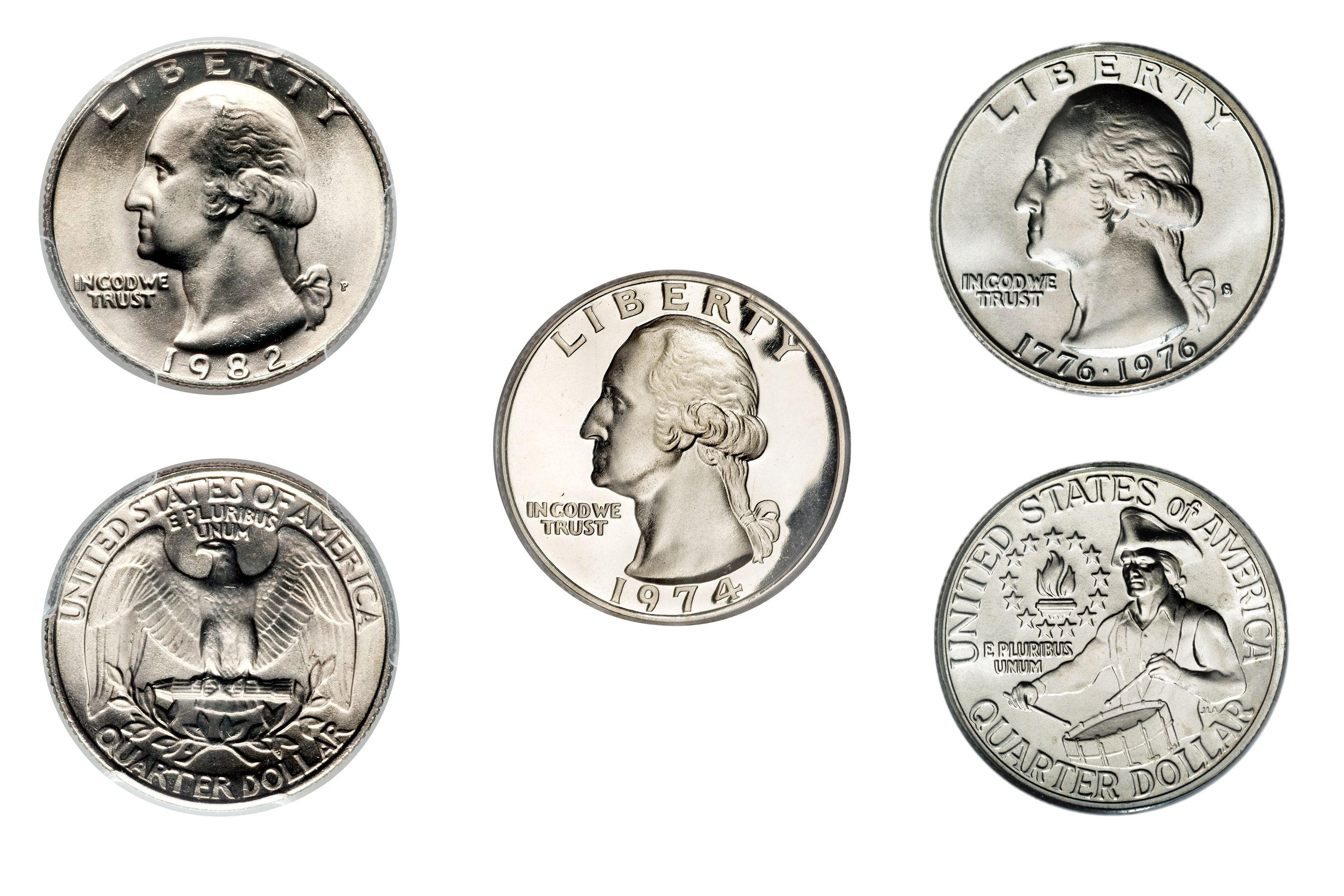 Clad Washington Quarter Values And Prices 1965 1998