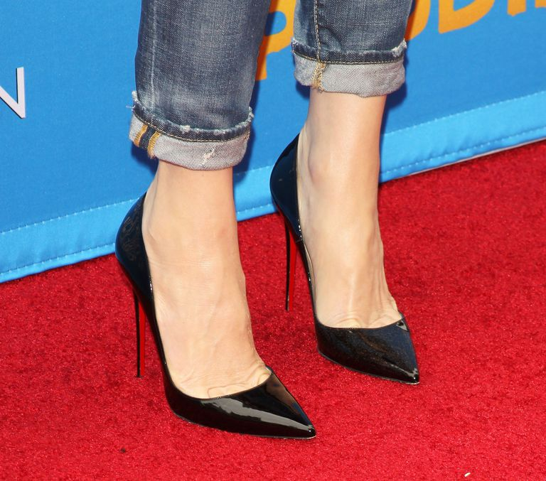 High heels on red carpet