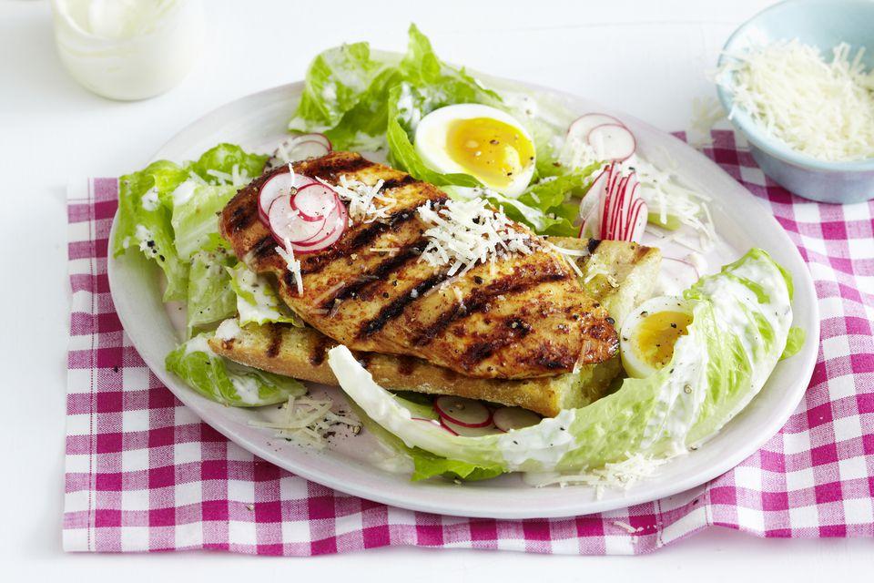 Grilled Chicken on Salad