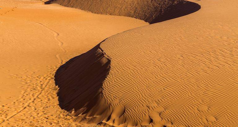 morning in the Desert Sand Dunes Landscapes Beautiful Nature Background
