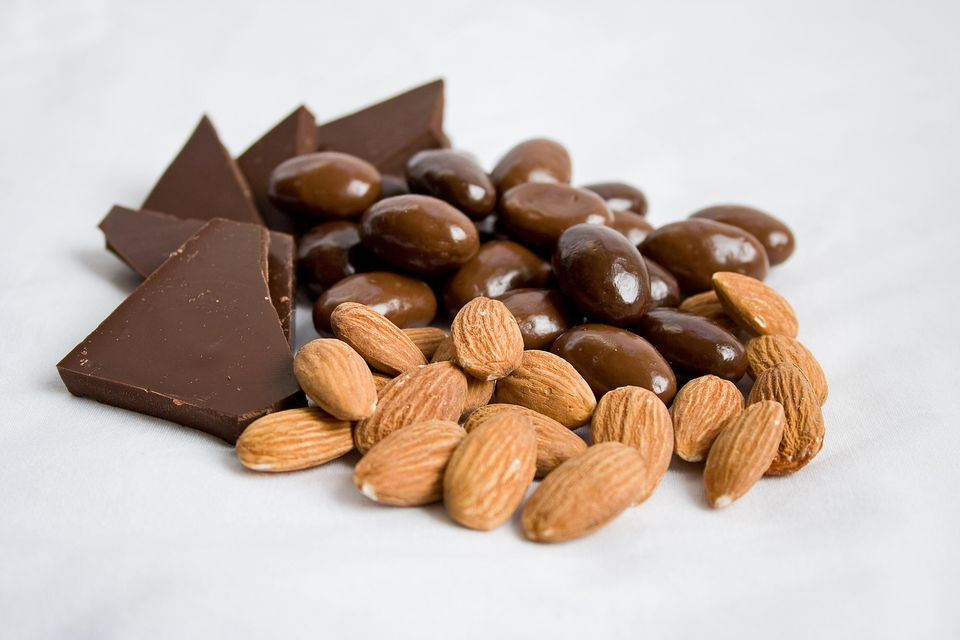 The basic ingredients for chocolate nut clusters